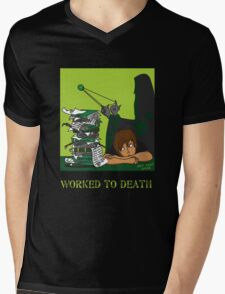 Worked To Death Mens V-Neck T-Shirt