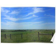 Alberta prairie and sky Poster