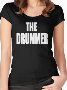 THE DRUMMER (DAVE GROHL / TAYLOR HAWKINS) WHITE Women's Fitted Scoop T-Shirt