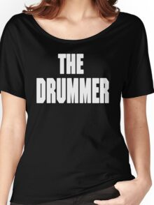THE DRUMMER (DAVE GROHL / TAYLOR HAWKINS) WHITE Women's Relaxed Fit T-Shirt