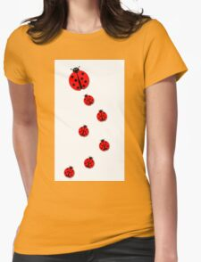 Many Ladybugs Womens Fitted T-Shirt