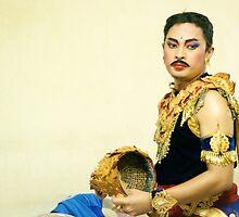 Balinese Dancer Behind the Scene   by Valerie Rosen