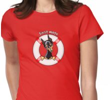 Miniature Pinscher :: First Mate Womens Fitted T-Shirt