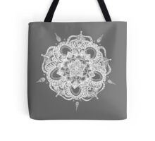White and Gray Mandala Tote Bag