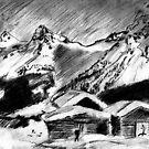 Winter in The Alps by Monica Engeler