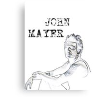 John Mayer Canvas Print