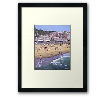 Bournemouth boscombe beach sea front Framed Print