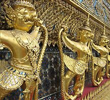 Garuda and Nagas at the Temple of the Emerald Buddha by M-EK