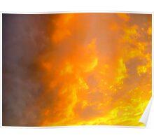 Orange Clouds Poster