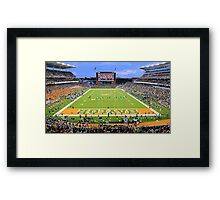 Baylor Touchdown Celebration Framed Print