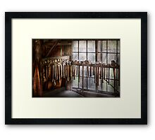 Black Smith - Draw plates and hammers  Framed Print