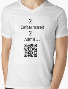 Justin Bieber: too embarrassed too admit Mens V-Neck T-Shirt