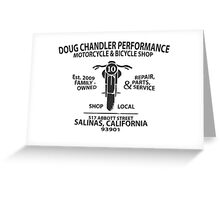 Doug Chandler Performance: Motorcycle (Black/Dark Grey) Greeting Card