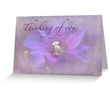 Thinking of You Greeting Card - Rose of Sharon Greeting Card