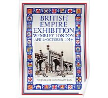 British Empire Exposition 1924 Wembley London Poster