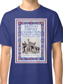 British Empire Exposition 1924 Wembley London Classic T-Shirt