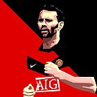 Manchester United Giggs Vector by Aaron Pacey