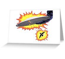 U.F.O vs Jet Battle Greeting Card