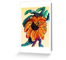 I barely survived that beat wave, watercolor Greeting Card