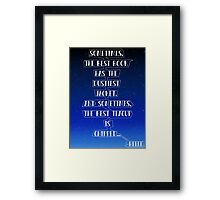 Chipped Teacup Belle Quote. Framed Print