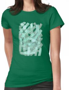 brush type green Womens Fitted T-Shirt