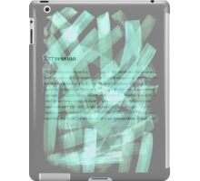 brush type green iPad Case/Skin