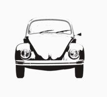 Volkswagen Beetle Bug Front Stencil Kids Tee