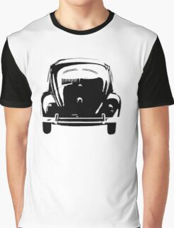 Volkswagen Beetle Bug Rear Stencil Graphic T-Shirt
