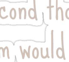 Friends Quote - Gum (Chandler) Sticker