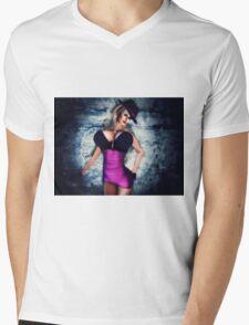 Mob Moll Gangsters Bride Mens V-Neck T-Shirt