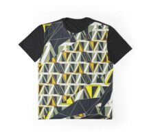 Distorted Wire-frame and 3D Triangles  Graphic T-Shirt