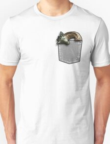 Sleeping giraffe in a pocket T-Shirt