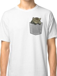 Sleeping cat in a pocket Classic T-Shirt