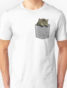 Sleeping cat in a pocket T-Shirt