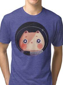 Cat Astro Tri-blend T-Shirt