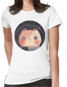 Cat Astro Womens Fitted T-Shirt