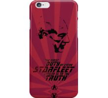 The First Duty iPhone Case/Skin