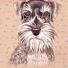 Miniature German Schnauzer dog by didielicious