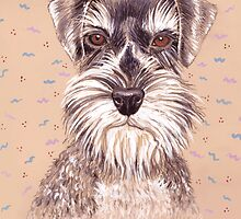 Miniature German Schnauzer dog by didielicious