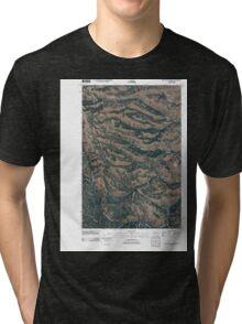 USGS Topo Map Washington State WA Willy Dick Canyon 20110502 TM Tri-blend T-Shirt