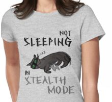 Stealth cat. Womens Fitted T-Shirt