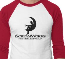ScreamWorks (Black) Men's Baseball ¾ T-Shirt