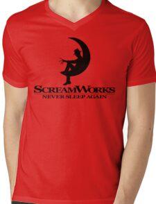 ScreamWorks (Black) Mens V-Neck T-Shirt