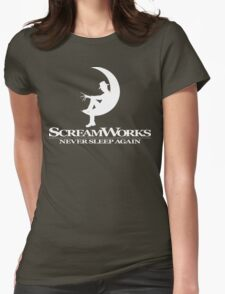 ScreamWorks (White) Womens Fitted T-Shirt