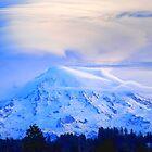 Lenticular Clouds Over Rainier by Tori Snow