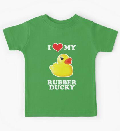 I Love My Rubber Ducky [iPad / iPhone / iPod Case, Print & Tshirt] Kids Tee