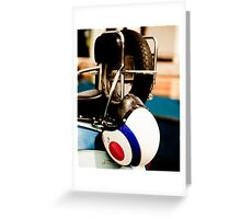 Lambretta helmet Greeting Card