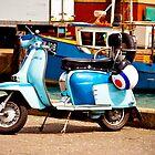 Blue Lambretta by Simon Evans