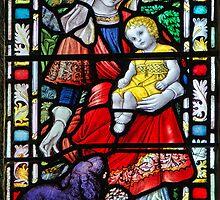 Priory Church Window 2 ~ St Michael's Mount by Susie Peek