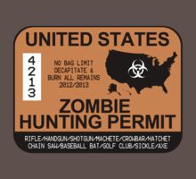 Zombie Hunting Permit 2012/2013 Kids Clothes
